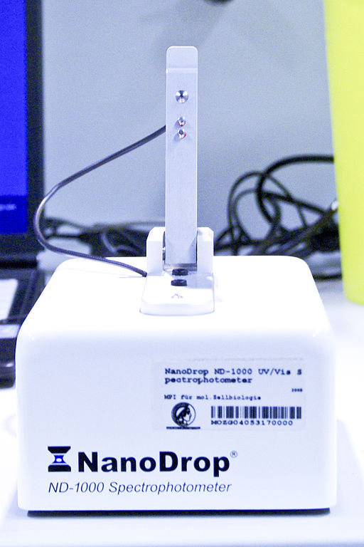 Measure cell-free tumor DNA quality using Qubit and NanoDrop.